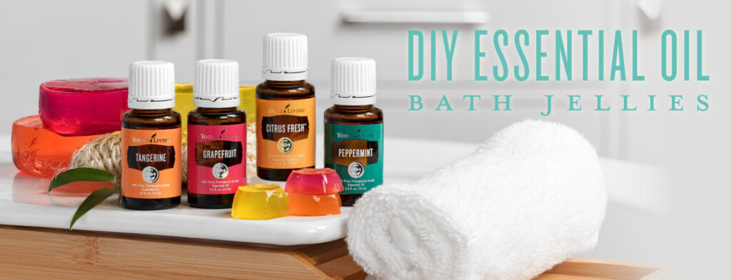 Young Living essential oil bath jellies