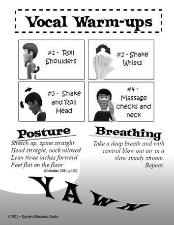 proper posture and breathing in singing warmups choir