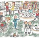 rosie brooks beehive Christmas illustration