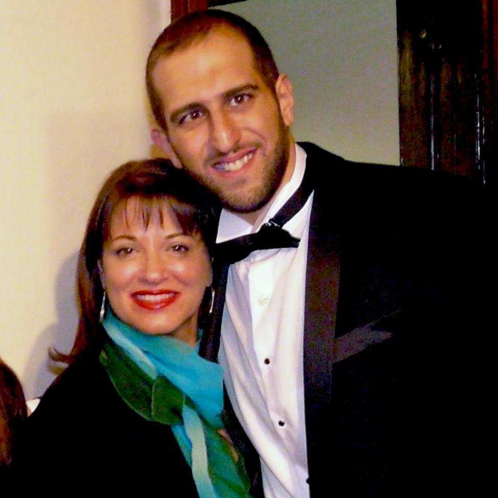 Janmarie Haggar with the music composer Vartan Agopian