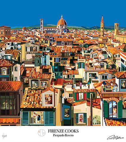 Florence Illustration by Pierpaolo Rovero Firenze Cooks