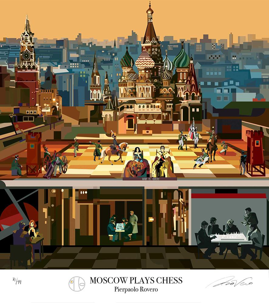 Illustration by Pierpaolo Rovero Moscow plays chess