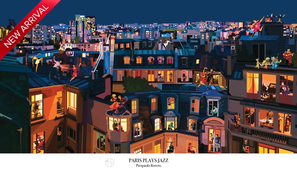 Illustration by Pierpaolo Rovero Paris plays Jazz