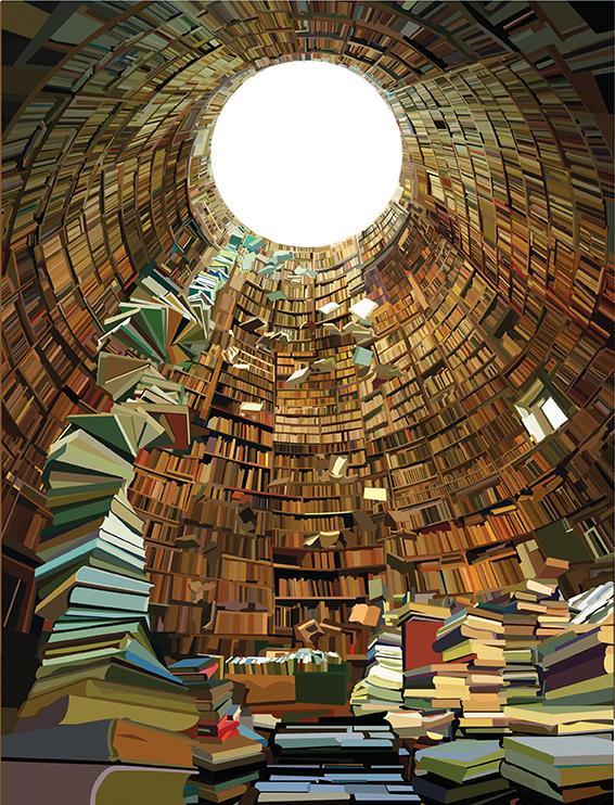 Illustration of books by Pierpaolo Rovero Present Past Future