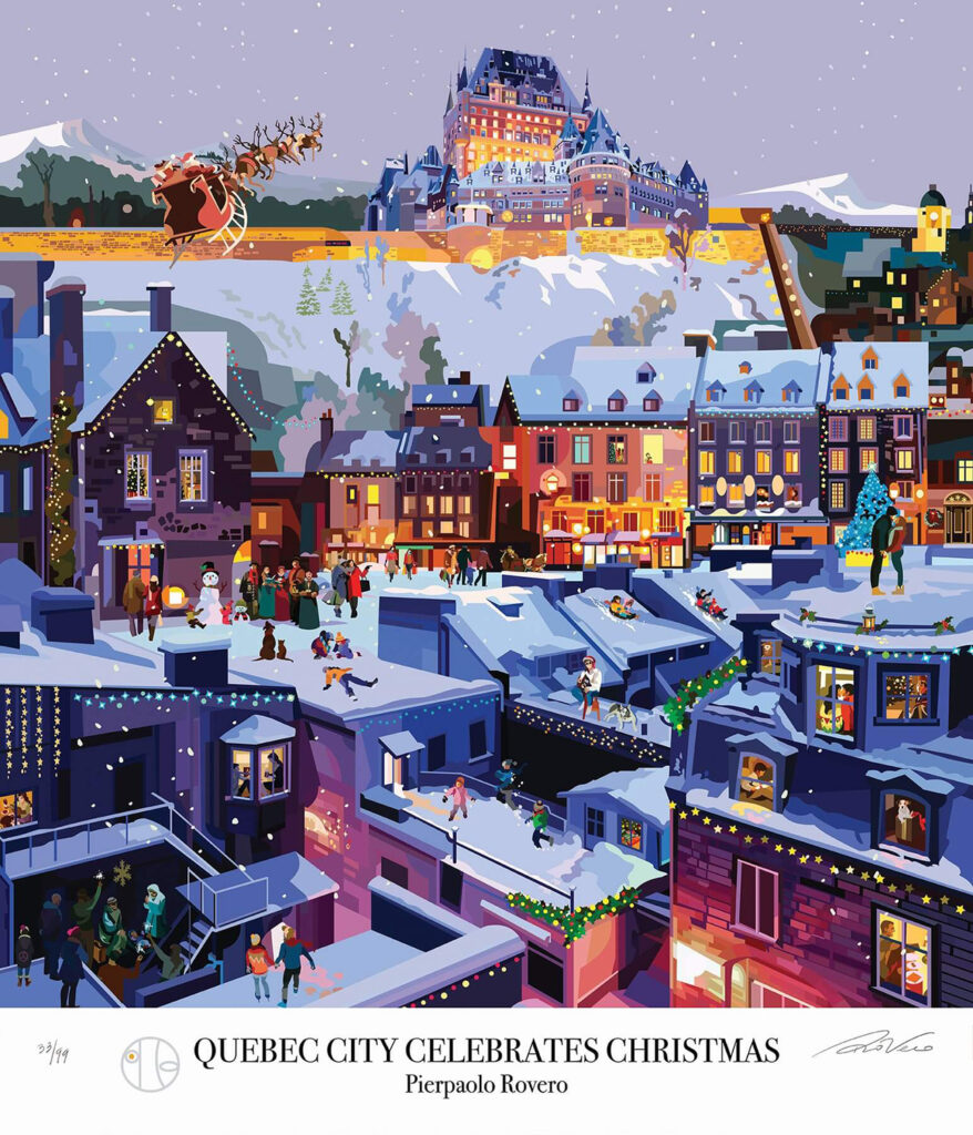 Illustration by Pierpaolo Rovero Quebec City celebrates Christmas
