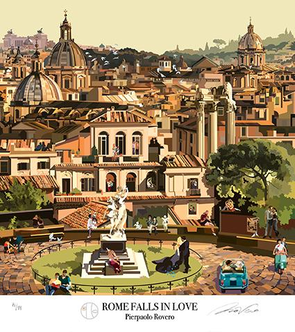 Illustration by Pierpaolo Rovero Rome falls in love