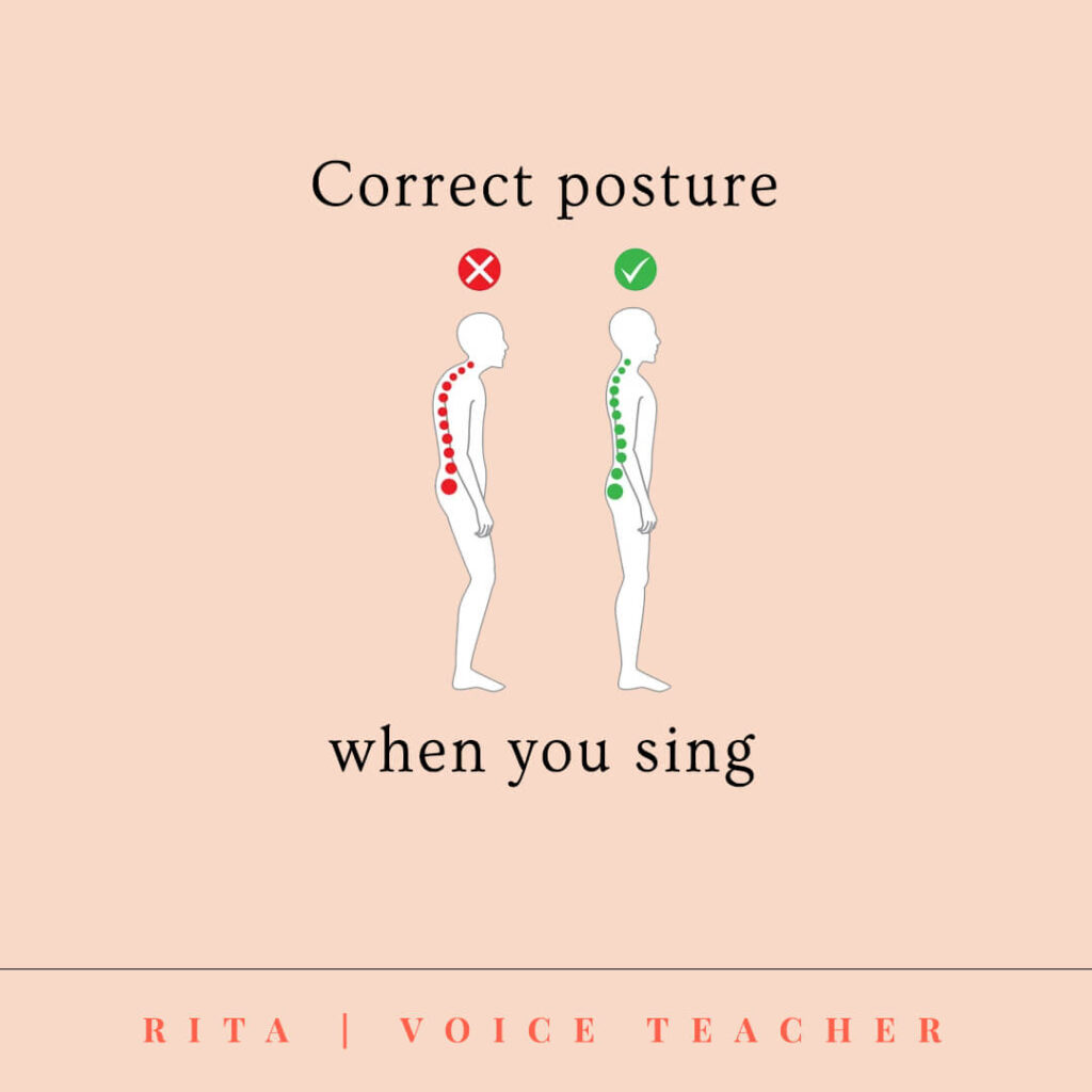 correct posture for singers