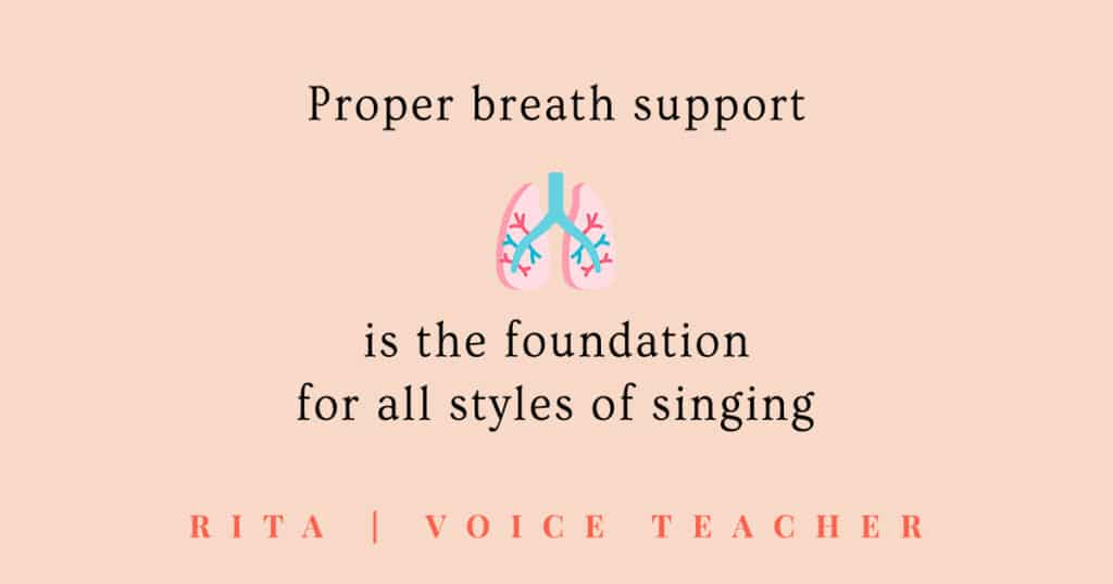 breath support in vocal technique